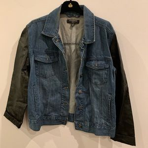Urban Outfitters By Corpus Denim Leather Jacket